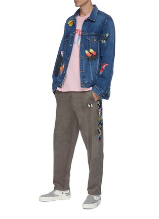 Figure View - Click To Enlarge - DOUBLET - Sushi hand painted denim jacket
