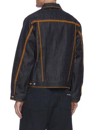 Back View - Click To Enlarge - DOUBLET - Big stitch denim jacket