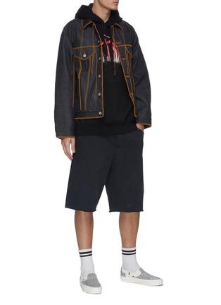 Figure View - Click To Enlarge - DOUBLET - Big stitch denim jacket