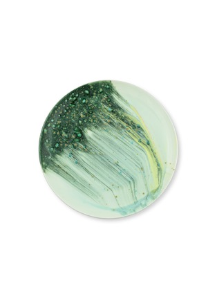Main View - Click To Enlarge - CORALLA MAIURI - Stone Bone China Dinner Coupe Plate – Green