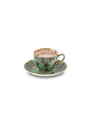 Main View - Click To Enlarge - CORALLA MAIURI - Michelangelo Porcelain Teacup and Saucer