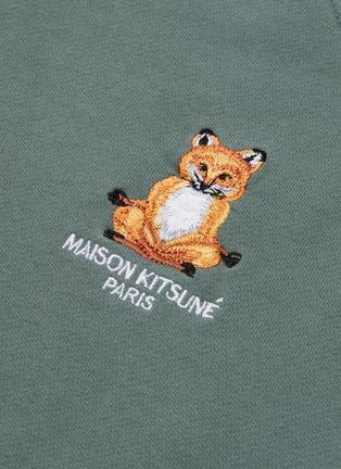 - MAISON KITSUNÉ - Lotus fox embroidered raglan sweatshirt