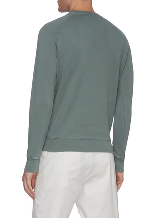 Back View - Click To Enlarge - MAISON KITSUNÉ - Lotus fox embroidered raglan sweatshirt