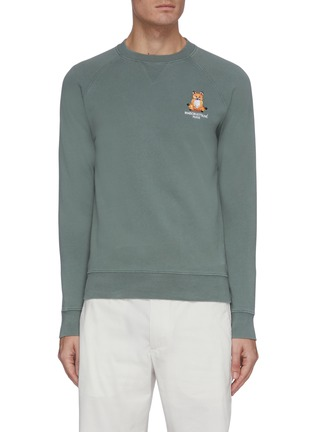 Main View - Click To Enlarge - MAISON KITSUNÉ - Lotus fox embroidered raglan sweatshirt