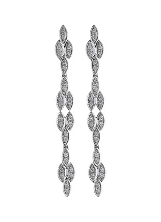 Main View - Click To Enlarge - LC COLLECTION JEWELLERY - Diamond 18k white gold drop earrings