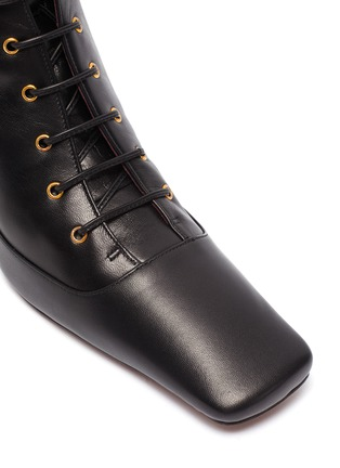 Detail View - Click To Enlarge - MANU ATELIER - 'Duck' lace up leather ankle boots
