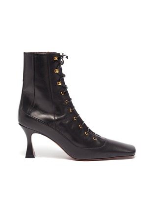 Main View - Click To Enlarge - MANU ATELIER - 'Duck' lace up leather ankle boots