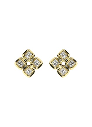 Main View - Click To Enlarge - LC COLLECTION JEWELLERY - Diamond 18k gold stud earrings