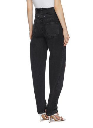 Back View - Click To Enlarge - MAISON MARGIELA - Slit leg belted bleach jeans