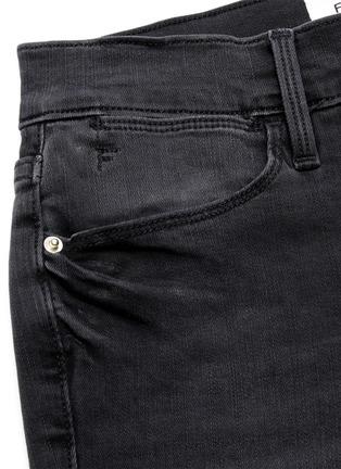 - FRAME DENIM - 'Le High Skinny' raw edge jeans