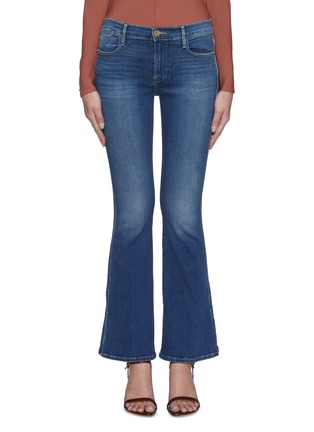 Main View - Click To Enlarge - FRAME DENIM - 'Le Pixie High Flare' high slit jeans