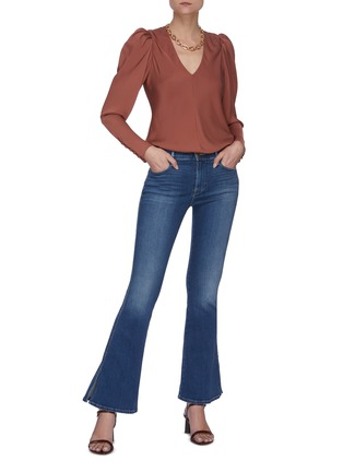 Figure View - Click To Enlarge - FRAME DENIM - 'Le Pixie High Flare' high slit jeans