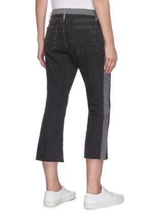 Back View - Click To Enlarge - FRAME DENIM - Le Pixie colourblock mini bootcut jeans