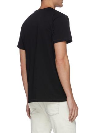 Back View - Click To Enlarge - HELMUT LANG - Logo print cotton T-shirt