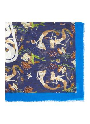 Detail View - Click To Enlarge - LOEWE - Paula's Ibiza' mermaid print cashmere scarf