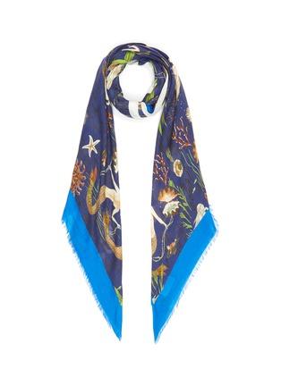 Main View - Click To Enlarge - LOEWE - Paula's Ibiza' mermaid print cashmere scarf