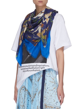 Figure View - Click To Enlarge - LOEWE - Paula's Ibiza' mermaid print cashmere scarf