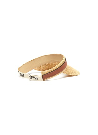 Figure View - Click To Enlarge - LOEWE - Gate' straw leather visor