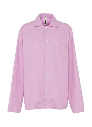 Main View - Click To Enlarge - TEKLA - Unisex Organic Cotton Poplin Small Pyjama Top – Purple Pink