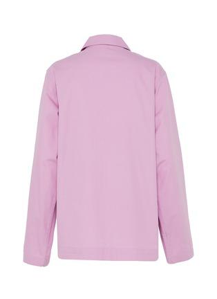 - TEKLA - Unisex Organic Cotton Poplin Extra Small Pyjama Top – Purple Pink