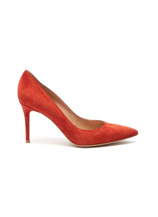 Main View - Click To Enlarge - GIANVITO ROSSI - Gianvito 85 suede leather pumps