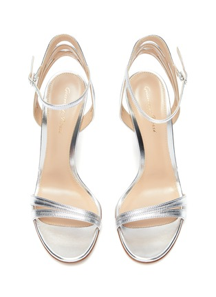 Detail View - Click To Enlarge - GIANVITO ROSSI - Strappy heeled leather sandals