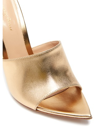 Detail View - Click To Enlarge - GIANVITO ROSSI - Point toe heeled leather mule sandals