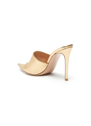- GIANVITO ROSSI - Point toe heeled leather mule sandals
