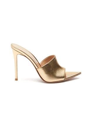 Main View - Click To Enlarge - GIANVITO ROSSI - Point toe heeled leather mule sandals