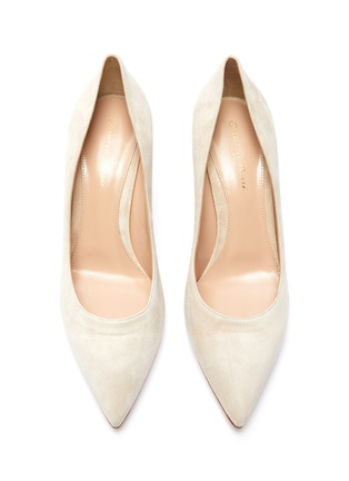 Detail View - Click To Enlarge - GIANVITO ROSSI - Gianvito 85 suede leather pumps
