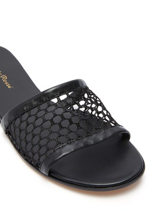 Detail View - Click To Enlarge - GIANVITO ROSSI - Fishnet mesh flat slides