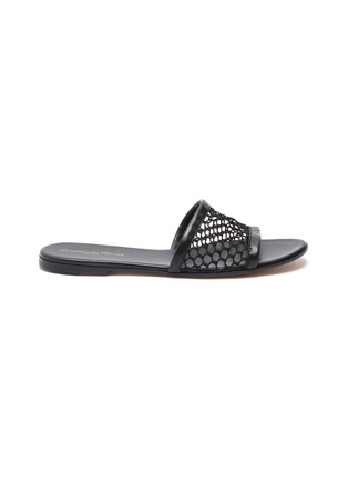 Main View - Click To Enlarge - GIANVITO ROSSI - Fishnet mesh flat slides