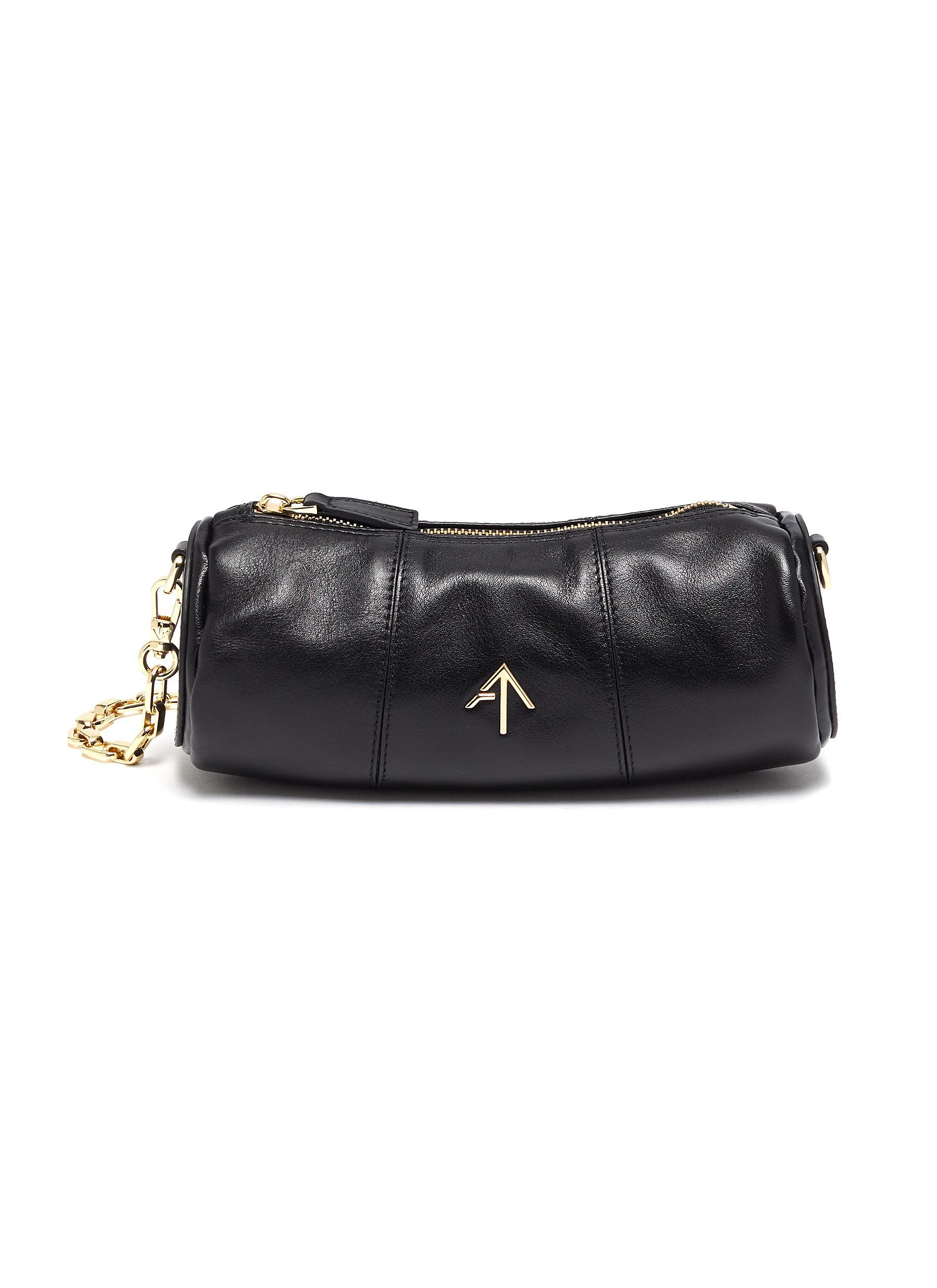 Manu Atelier Mini cylinder leather shoulder bag