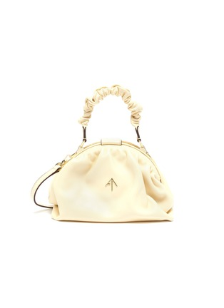Main View - Click To Enlarge - MANU ATELIER - Ruched Demi' top handle leather bag