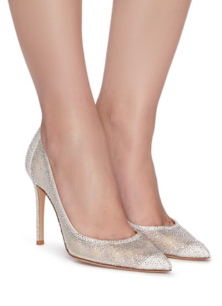 Figure View - Click To Enlarge - GIANVITO ROSSI - Rania strass embellished pumps