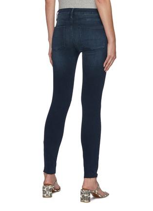 Back View - Click To Enlarge - FRAME DENIM - Le Skinny de Jeanne' Distressed Denim Skinny Jeans