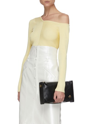 Front View - Click To Enlarge - MANU ATELIER - 'Carmen' rectangle leather bag