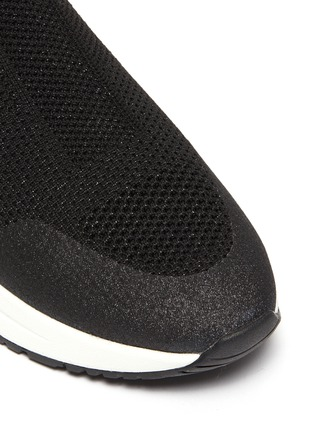 Detail View - Click To Enlarge - ASH - 'Kyle Glitter' airsole knit slip-on sneakers