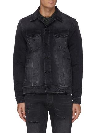 Main View - Click To Enlarge - DENHAM - 'Amsterdam BLBR' distressed detail denim jacket