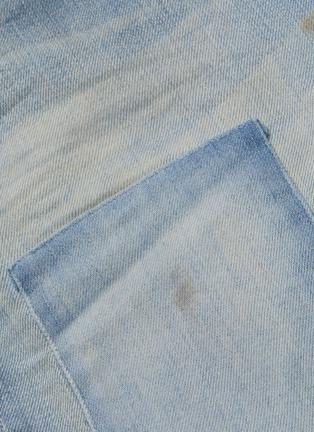 - DENHAM - 'Razor' patchwork detail slim fit jeans