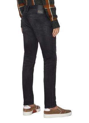 Back View - Click To Enlarge - DENHAM - 'Razor BLBR' slim fit rip and repair jeans