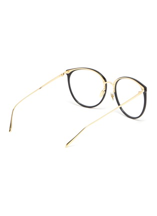 Figure View - Click To Enlarge - LINDA FARROW VINTAGE - Acetate frame metal temples rounded optical glasses