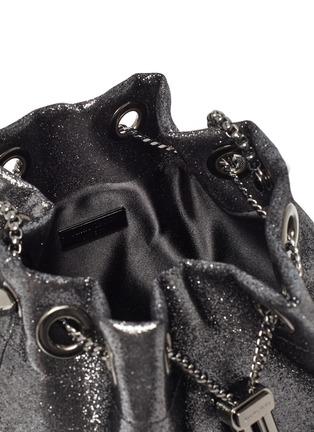 Detail View - Click To Enlarge - JIMMY CHOO - Bon Bon' metal handle metallic leather bag