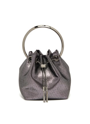 Main View - Click To Enlarge - JIMMY CHOO - Bon Bon' metal handle metallic leather bag