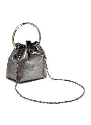 Figure View - Click To Enlarge - JIMMY CHOO - Bon Bon' metal handle metallic leather bag