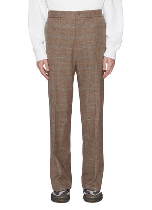 Main View - Click To Enlarge - WOOYOUNGMI - Checked wool tailored pants