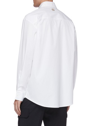 Back View - Click To Enlarge - WOOYOUNGMI - Oversized chest pocket shirt
