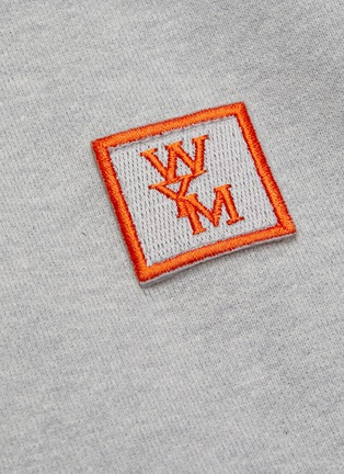 - WOOYOUNGMI - Embroidered logo patch cotton hoodie