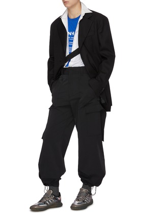 Figure View - Click To Enlarge - WOOYOUNGMI - Slim fit cargo pants