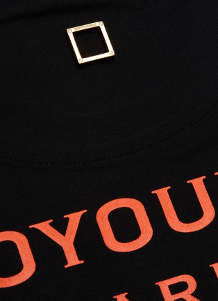 - WOOYOUNGMI - Embroidered logo patch cotton T-shirt